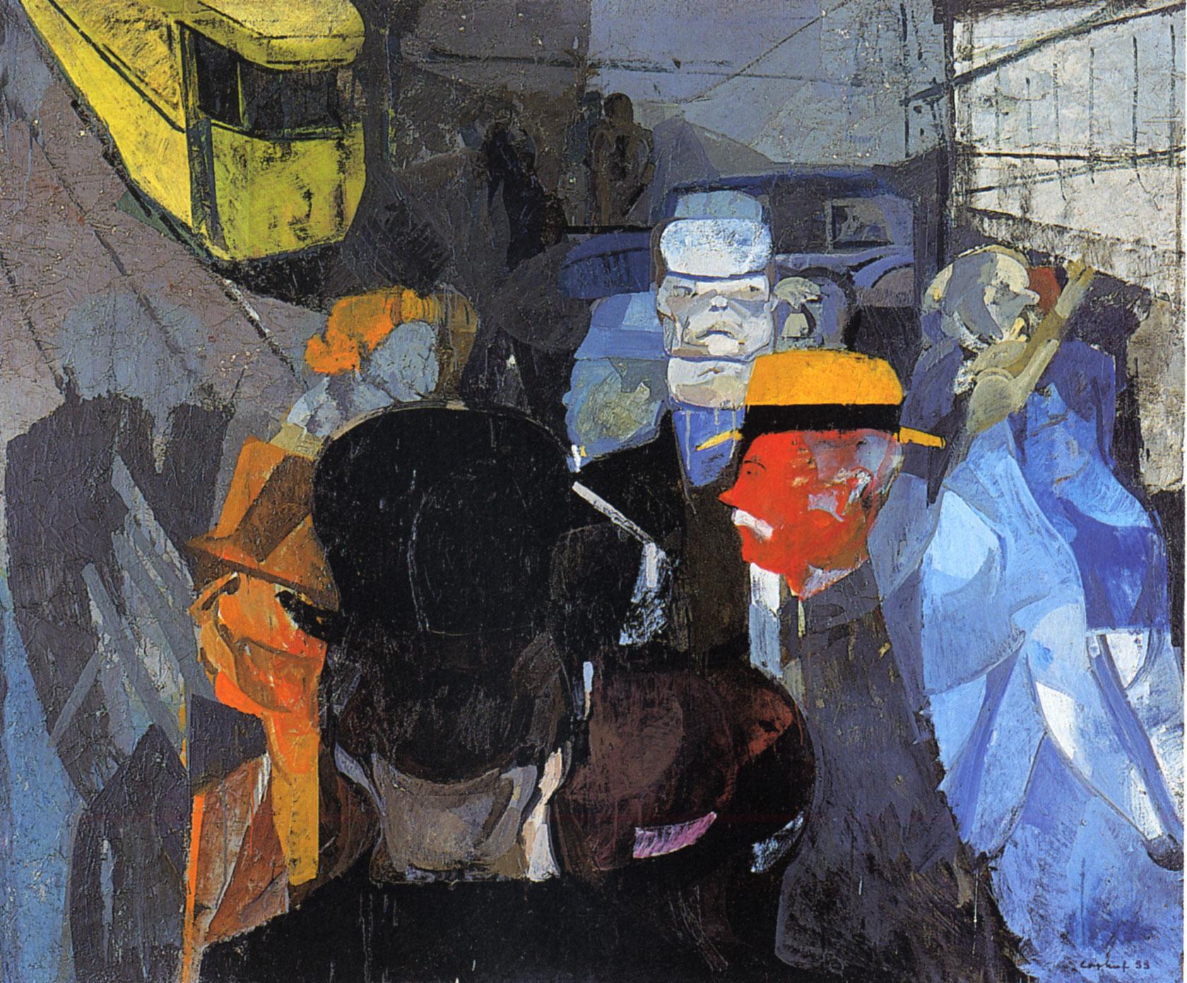 Coghuf, Marseille, 1933. Huile sur toile, 146 x 175 cm, Groupe Bâloise