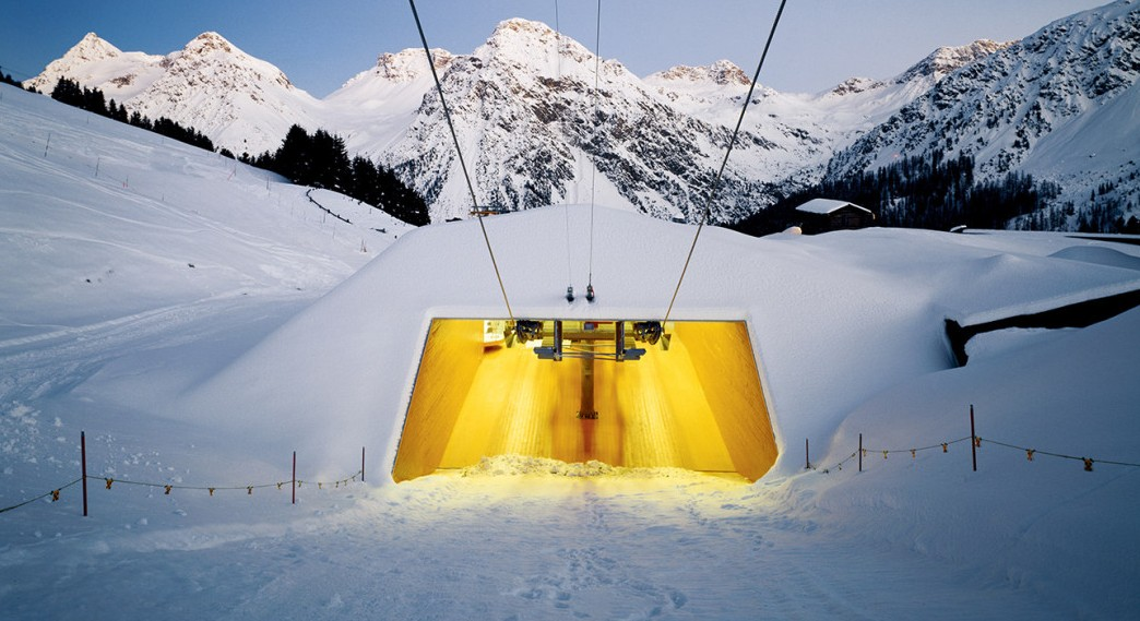 Carmenna Chairlift Stations, Architecture Bearth & Deplazes © Ralph Feiner.