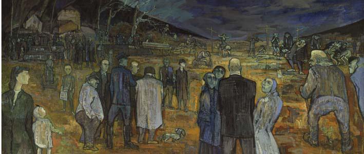Lermite, Calvaire brévinien, 1949, Huile sur toile, Collection particulière.