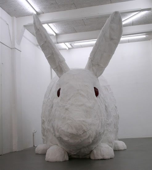 Christian Gozenbach, Great Stuffed Rabbit, 2006, Installation.