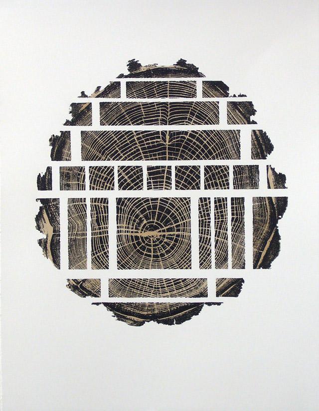 Vincent Kohler, Woodcut, 2008, bois rehaussé au brou de noix , 50 x 65 cm, 30 exemplaires sur Rives BFK 250 gm2, 5 ea et 3 hc, réalisé pour le Musée des beaux-arts du Locle.