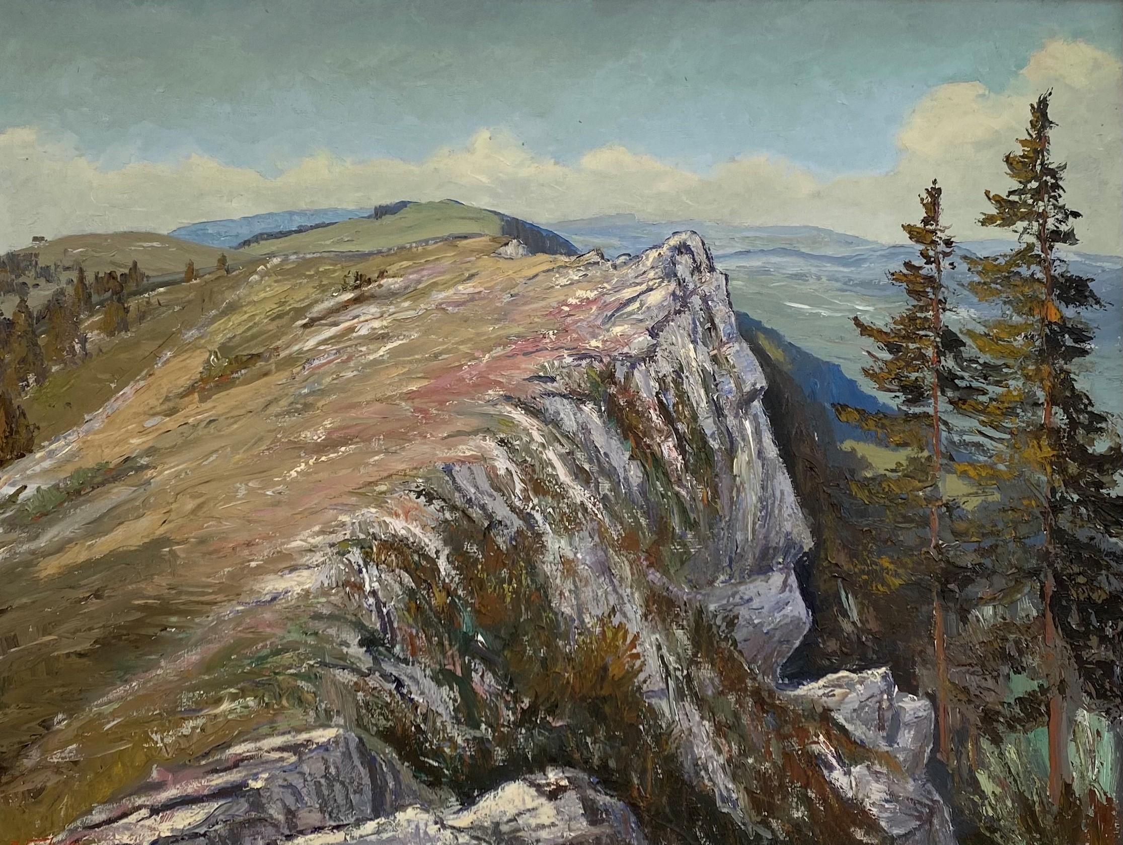 Albert Fahrny, Crête du Mont-Racine, 1953, huile sur toile. © Musée des beaux-arts, Le Locle
